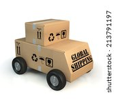 global shipping concept | Shutterstock . vector #213791197