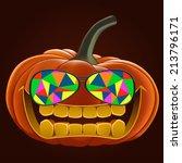 pumpkin for halloween  vector... | Shutterstock .eps vector #213796171