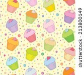 sweet colorful muffins vector... | Shutterstock .eps vector #213800149