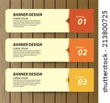design template banners set | Shutterstock .eps vector #213800725
