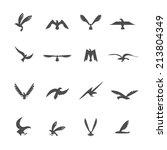 set of eagles heraldic... | Shutterstock . vector #213804349