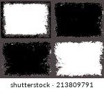 grunge frame set. vector... | Shutterstock .eps vector #213809791