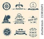 summer sea retro vacation... | Shutterstock . vector #213810691