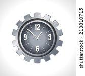 metal cog wheel gear steel... | Shutterstock . vector #213810715