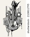 rock music design   Shutterstock .eps vector #213811795