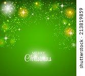 christmas glossy star... | Shutterstock .eps vector #213819859