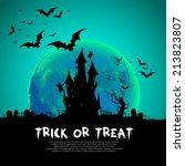 happy halloween card template ...   Shutterstock .eps vector #213823807