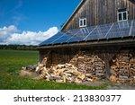 Solar Power Panels On Barn Roo...