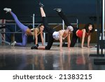 group of wiman working out in... | Shutterstock . vector #21383215