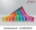 the 3 dimensions stair have... | Shutterstock .eps vector #213835201