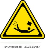 caution sign on white background | Shutterstock .eps vector #213836464