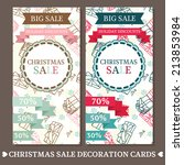 set of two cute cards for... | Shutterstock .eps vector #213853984