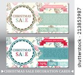 set of two cute cards for... | Shutterstock .eps vector #213853987