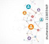 network concept   social media | Shutterstock .eps vector #213855469