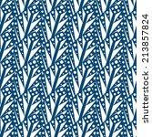 geometrical leaves seamless... | Shutterstock .eps vector #213857824