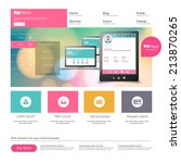 flat colorful website template... | Shutterstock .eps vector #213870265