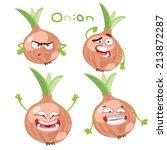 happy cartoon character with...