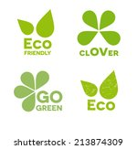 eco icons set | Shutterstock .eps vector #213874309