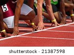 hands on the starting line ... | Shutterstock . vector #21387598