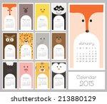 calendar 2015. vector... | Shutterstock .eps vector #213880129