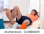 Knee Of Injured Football Player