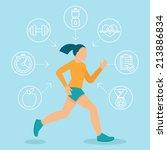 vector fitness infographics...   Shutterstock .eps vector #213886834