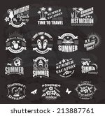 set of summer design elements... | Shutterstock . vector #213887761