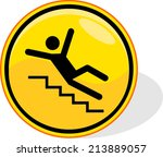 yellow caution sign  isolated... | Shutterstock .eps vector #213889057