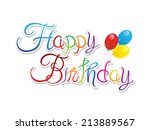 abstract happy birthday... | Shutterstock .eps vector #213889567