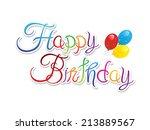 abstract happy birthday... | Shutterstock .eps vector #213889567