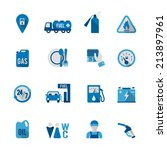 set of fuel station car auto... | Shutterstock . vector #213897961
