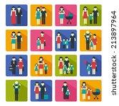 family people figures website...   Shutterstock . vector #213897964