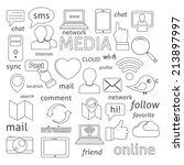 social media sign for blogging... | Shutterstock . vector #213897997