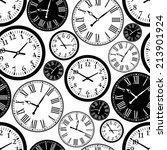 clock seamless pattern | Shutterstock .eps vector #213901924