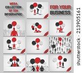 mega collection of ten business ... | Shutterstock . vector #213905161