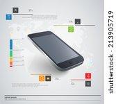 modern communication technology ... | Shutterstock .eps vector #213905719