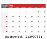 may 2015 planning calendar | Shutterstock .eps vector #213907861