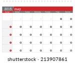 may 2015 planning calendar | Shutterstock .eps vector #213907861