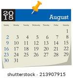 calendar 2015 august | Shutterstock .eps vector #213907915