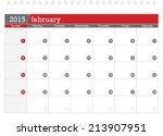 february 2015 planning calendar | Shutterstock .eps vector #213907951