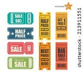 vector sale tickets. | Shutterstock .eps vector #213911551
