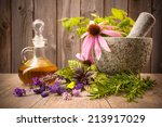 Healing Herbs With Mortar And...