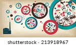 party poster template  ... | Shutterstock . vector #213918967