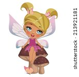 a beautiful fairy isolated on a ... | Shutterstock .eps vector #213921181