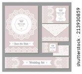 wedding set. stationery design...   Shutterstock .eps vector #213930859