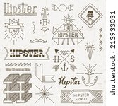 vintage hipster hand drawn... | Shutterstock .eps vector #213933031