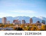 salt lake city downtown... | Shutterstock . vector #213938434