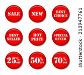 collection of sale icons for... | Shutterstock .eps vector #213947761