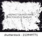 abstract grunge frame. vector... | Shutterstock .eps vector #213949771