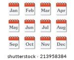 month on calender | Shutterstock .eps vector #213958384